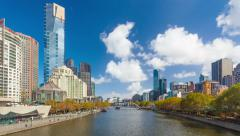4k hyperlapse, motion timelapse, video of downtown Melbourne, Australia Arkistovideo