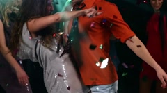 Dancing : catchy music, all very happy, Slow motion Stock Footage