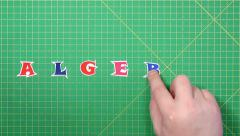 Popular English words. algebra - stock footage