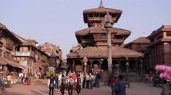 Dattatraya Temple,Bhaktapur,Nepal - stock footage