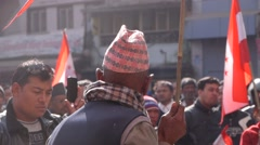 Demonstrators,Kathmandu,Nepal - stock footage