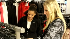 Diverse Shot of Woman Clothing Shopping - stock footage