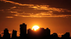 Beautiful sunrise time lapse. Skyline sunrise. Stock Footage