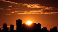 Stock Video Footage of Beautiful sunrise time lapse. Skyline sunrise.