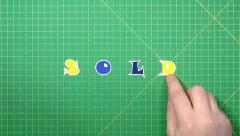 Popular English words. sold - stock footage