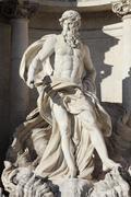Oceanus in the Trevi Fountain Stock Photos