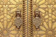 Golden door knockers Stock Photos