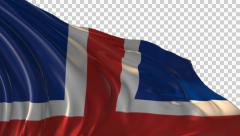 Flag of Iceland Stock Footage