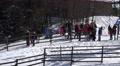 4k People waiting at winter fun toboggan cable lift Harz 4k or 4k+ Resolution
