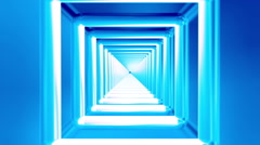 Broadcast Endless Hi-Tech Tunnel, Blue, Square, HD Stock Footage