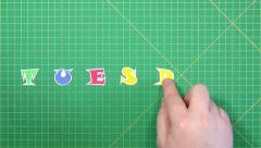 Popular English words. Thursday - stock footage