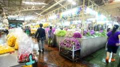 "Flower market in Thailand name ""Pak Klong Talad"" Stock Footage"