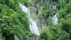 Hagoromo Waterfall, Hokkaido, Japan Stock Footage