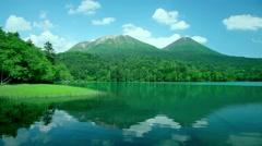 Lake Ashoro, Hokkaido, Japan Stock Footage