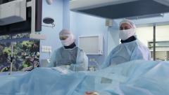 Best shots of angiographic surgery: all best footage in one sequence! (Part I) Stock Footage