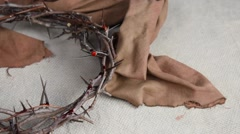 Crown of Thorns and Nails Stock Footage