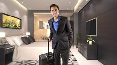 Traveller with Luggage Stock Photos