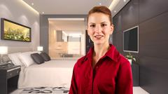 Businesswoman in a Hotel Stock Photos