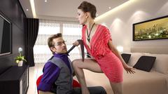 Bossy Seduction Stock Photos