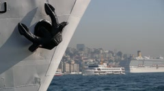 Detail of a Ferry,Istanbul,Turkey Stock Footage