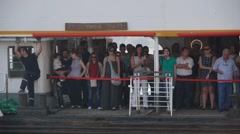 Passengers on a ferry,Istanbul,Turkey Stock Footage
