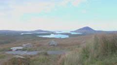 Diamond Hill, Connemara, day, tripod - Ireland Stock Footage