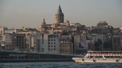Golden Horn and ferries,Istanbul,Turkey Stock Footage