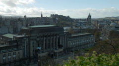 Edinburgh, Scotland view from Calton Hill, Royal Terrace Stock Footage