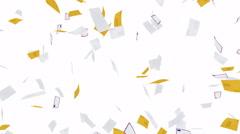Flying envelopes - seamless loop, alpha Stock Footage
