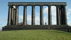 The National Monument of Scotland, Calton Hill Stock Footage