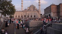 Yeni Cami Mosque and square,Istanbul,Turkey - stock footage
