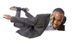 Skydiving Businessman - stock photo