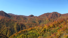 Autumn foliage, Aomori Prefecture, Japan Stock Footage