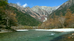 Chubu-Sangaku National Park, Nagano Prefecture, Japan Stock Footage