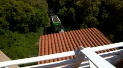 20s Silent Funicular Arriving Montserrat Stock Footage