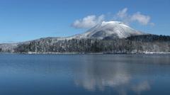 Lake in Hokkaido, Japan Stock Footage