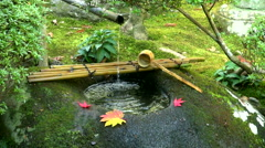 Washbasin in a temple, Shizuoka Prefecture, Japan Stock Footage