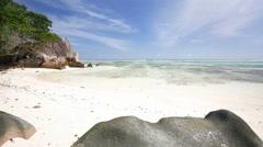 Anse Source D'Argent, Seychelles Stock Footage