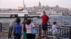 Tourist making a photo,Istanbul,Turkey Stock Footage