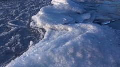 Winter at Lake Kussharo, Hokkaido, Japan Stock Footage