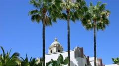 4K, UHD, Beverly Hills City Hall, Los Angeles, California, BlackMagic Camera Stock Footage