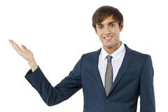 Businessman Advertising - stock photo