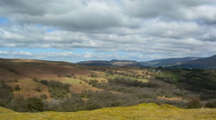 Brecon Beacons (southern edge) pan Left to Right Stock Footage