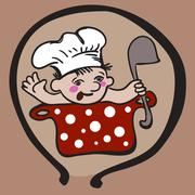 Baby Chef in Womb - stock illustration