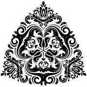Orient  ornamental round lace Stock Illustration