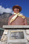 sir edmund hillary Khumjung school - stock photo
