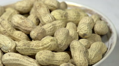 Raw Peanuts in a Bowl Stock Footage