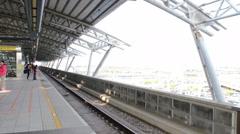 Taiwan High Speed Railway (THSR) Train at Taichung THSR Station. HD Stock Footage