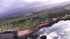 Ocean & Waves, North Shore, Oahu aerials Stock Footage