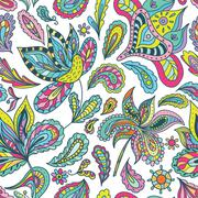 Summer Pattern with Indian Motifs Stock Illustration